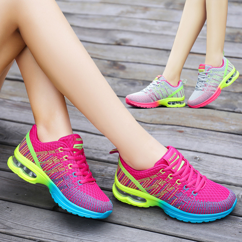 2018 Women Shoes Spring Autumn New Sports Ladies Shoes Walking Breathable Sapatilhas Walking Shoes Women Sneakers Platform Shoe