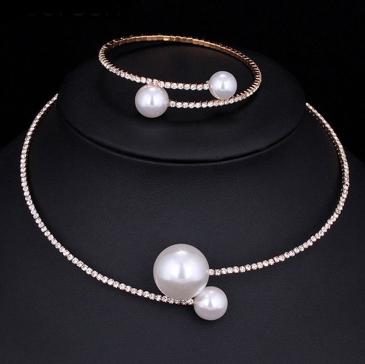 Fashion Simulated Pearl Bridal Jewelry sets For Women 25