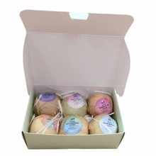 6pcs/lot Organic Bath Bombs Bubble Bath Salts Ball Essential Oil Handmade for Home SPA Stress Relief Exfoliating