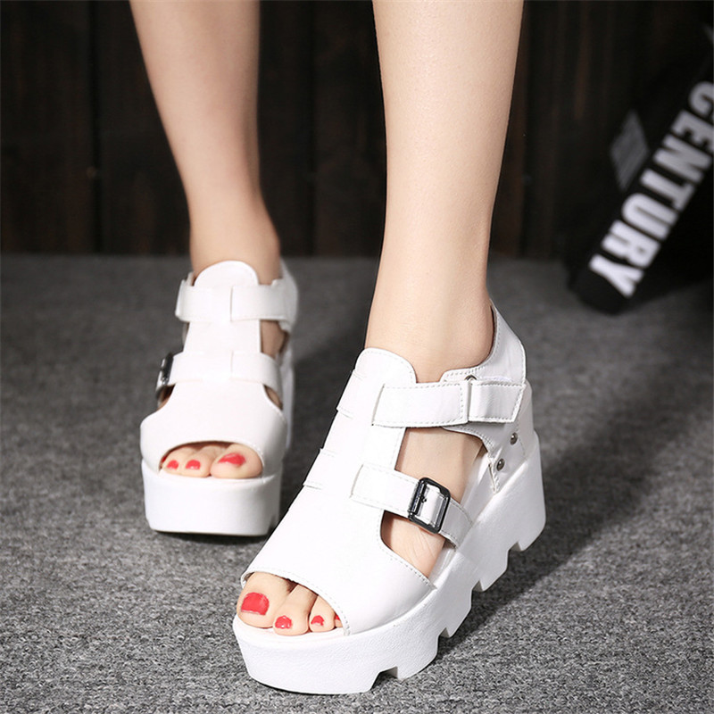 Sandales 3 Augmenté 2018 A 5 1 Poisson Et Printemps Version Femmes Pente 2 À Coréenne Chaussures 4 Des Fond Épais La Tête D'été De Avec 6rqBHx6Zw
