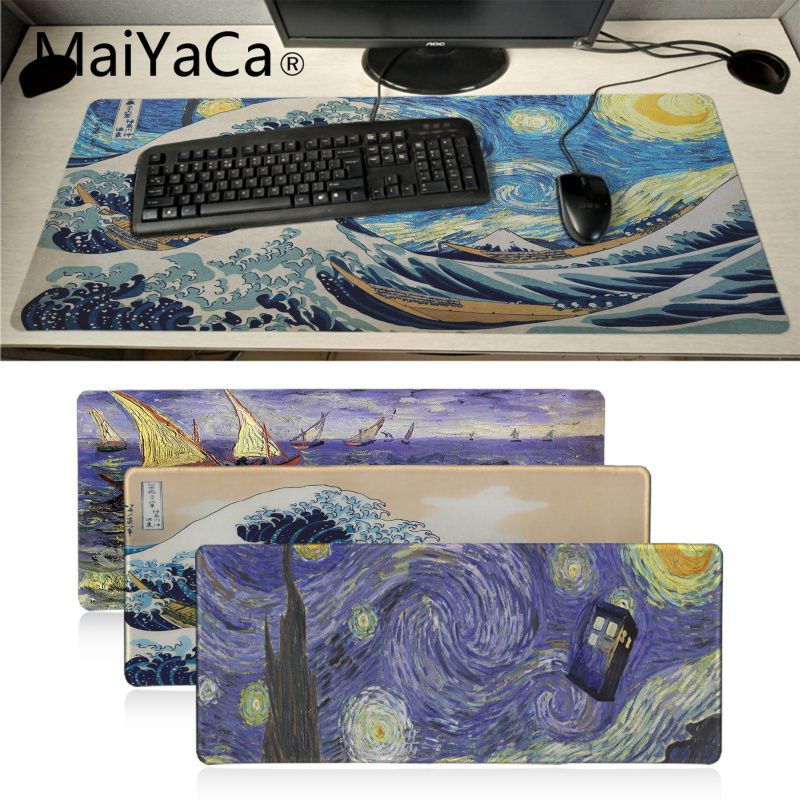 Maiyaca Your Own Mats Japan Wave Art Painting Office Mice Gamer Soft Mouse Pad Laptop PC Computer Mat Large Mat Gaming Pad Mouse