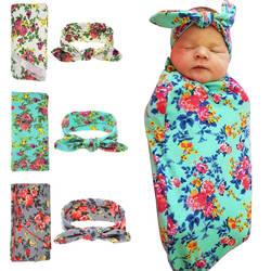 2 шт./компл. хлопок Новорожденный детский Пеленальный Одеяло с заячьими ушками набор повязок младенческий сон одеяло детские накидка