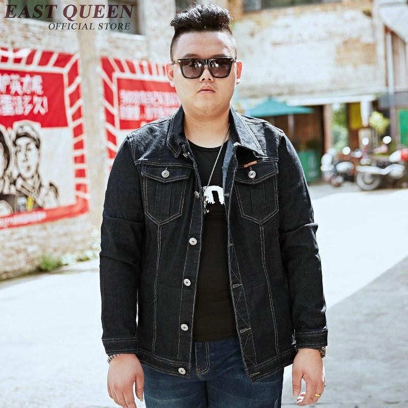 Джинсовая куртка для мужчин 2018 Осенние новые куртки модные джинсы пальто брендовая одежда мужская куртка бомбер Большие размеры KK1841 H