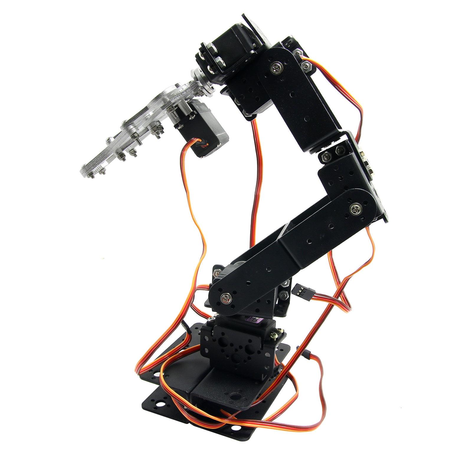 2U Aluminium Robot 6 DOF Arm Mechanical Robotic Arm Clamp Claw Mount Kit &  MG996R Servos & 32CH Controller for Arduino