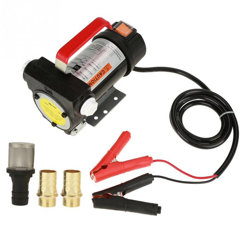 12v 40l/min Portable Self Priming Fuel Diesel Pump Oil Transfer Pump Set Electric Fuel Transfer Pump Gasoline Oil Diesel Pump