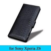 Wobiloo Moda Handmade Projektant Marki Akcesoriów Telefonu Prawdziwe Skórzane Etui Z Klapką Pokrywa dla Sony Xperia Z6 Przypadki 5.2 Darmowa Wysyłka