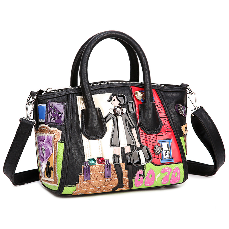 df74e7bbec3 Patchwork Snake Skin Pouch Bag Women Genuine Leather Multicolor ...