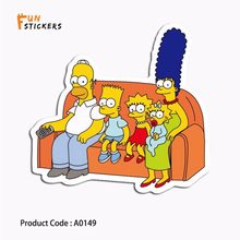 Simpson Happy Family Watching Cartoon Waterproof Sticker Toy Laptop Mobile Phone Guitar Skateboard Luggage Bicycle Sticker A0149(China)