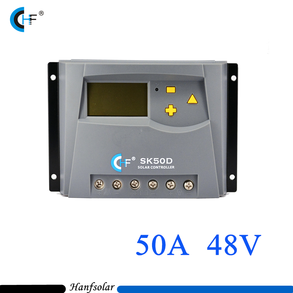 50A 48V Solar Charge Controller LCD Display PWM Solar Charge regulator For Home Indoor Solar PV Panel System