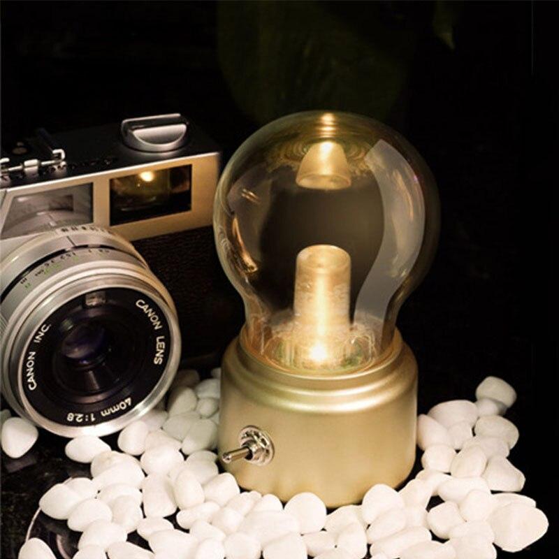 Luzes da Noite recarregável lâmpada interruptor de alavanca Nightlamp : Bulb Lamp
