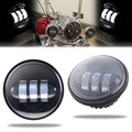 """1Pair 4.5"""" LED Daymaker Auxiliary Passing Lights 4-1/2"""" LED fog Lights For Harley Street Glide FLHX/Iron 883"""