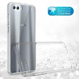 Image 2 - Huawei honor view 10 용 소프트 실리콘 tpu/pc 케이스 huawei honor v10 용 고급 fundas capa shockproof shell clear 하드 백 커버