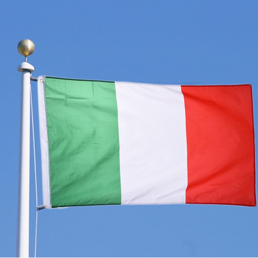 Italian Flag: 1 Pcs Italy Flag 90*150cm / 3*5 FT Big Hanging Italy
