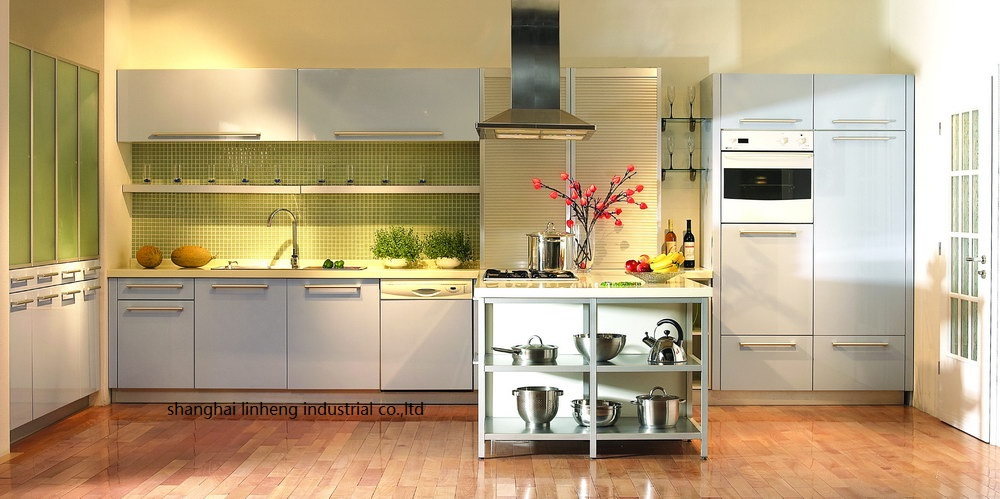 High Gloss/lacquer Kitchen Cabinet Mordern(LH-LA075)