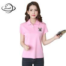 YAUAMDB женские рубашки-поло летние хлопковые женские топы, Однотонная футболка, одежда с коротким рукавом, Тонкая Повседневная Женская одежда ly25