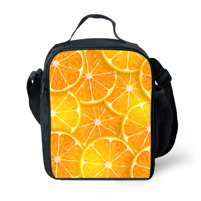 Cute Cartoon Bento Lunch Bag Fruit salad   Cooler Lunch Box Food For Kids School Boy Girl Thermal Insulated Travel Pinic Lunchbo