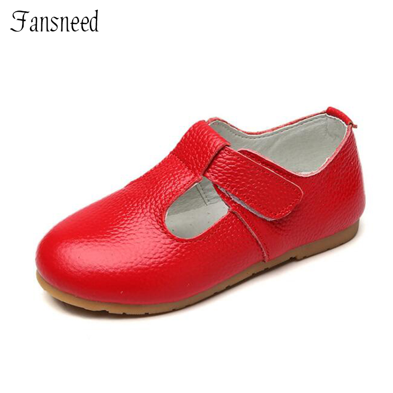 Children's shoes Genuine leather girls shoes Spring and autumn Princess shoes Cuw Muscle soft-soled shoes