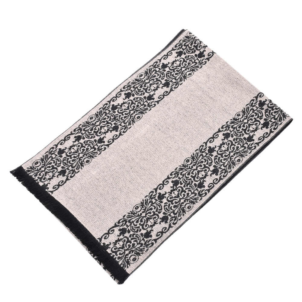 Stile cinese Blu E Bianco Modello di Porcellana Sciarpa Per Gli Uomini del Cotone di Modo di Inverno Caldo di Spessore di Marca Sciarpe Con Nappe