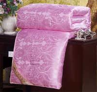 100%天然シルク布団掛け布団クイーン 、 キング フルサイズ桑シルク フィラー手作り寝具毛布四季