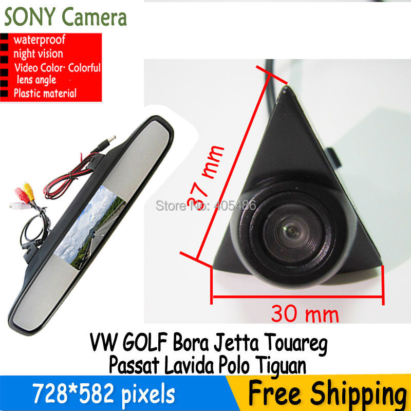 HD sony CCD Vehicle car logo Front view camera with front view monitor for VW GOLF Bora Jetta Touareg Passat Lavida Polo Tiguan
