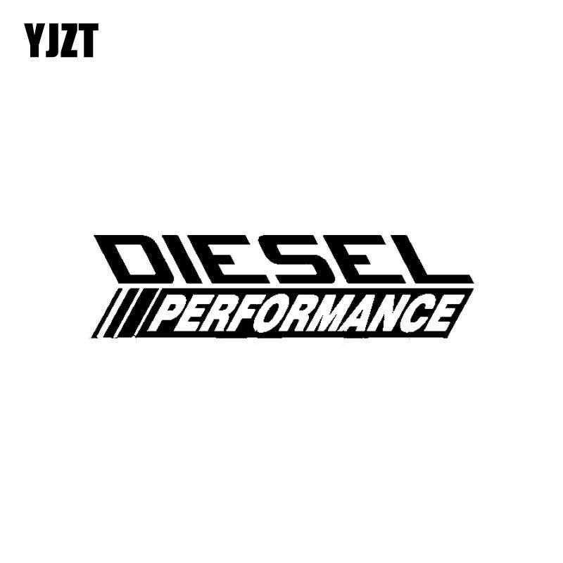 YJZT 16 см * 4,3 см модная дизельная Производительность Высококачественная графическая Наклейка Черная/Серебристая виниловая Автомобильная на...