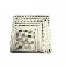 27 шт. BGA непосредственно тепла реболлинга универсальные трафареты с шаблон джиг для SMT SMD чип