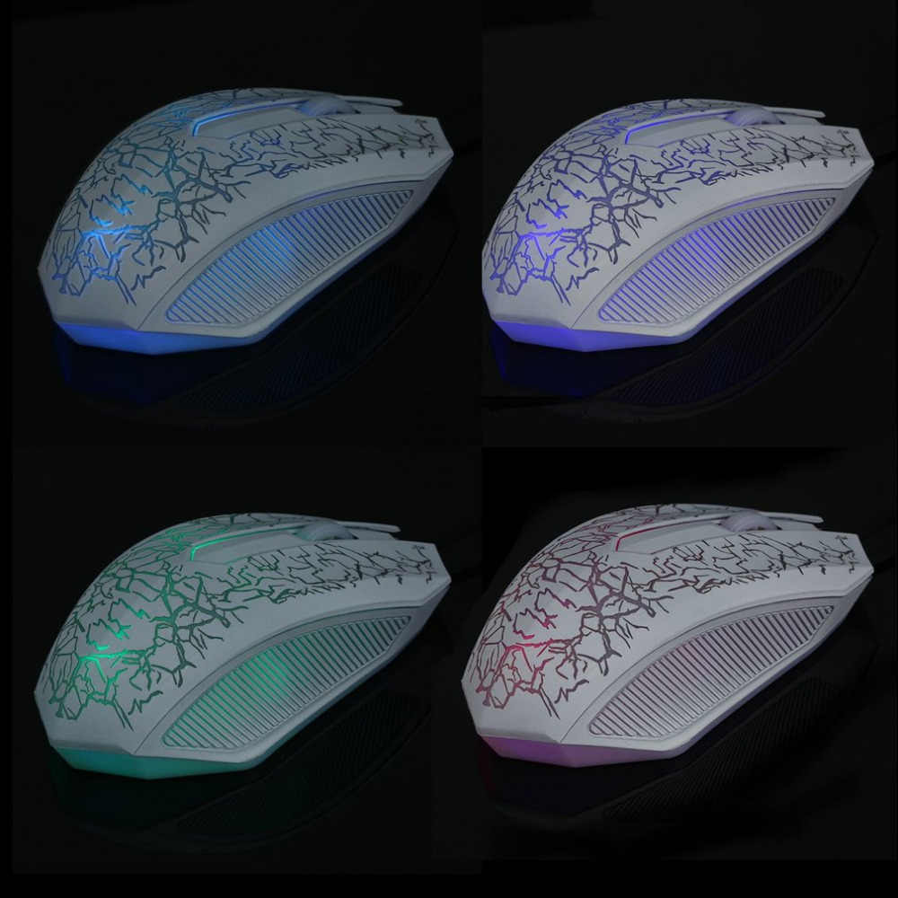 3200DPI Optical 3 Buttons 3D USB Wired Gaming Game Mouse Pro Gamer Computer Mice For PC Adjustable USB Wired Gaming Mouse White