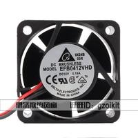 Delta Electronics EFB0412VHD DC 12V 0.18A 40x40x20mm 2-wire Server Cooler Fan