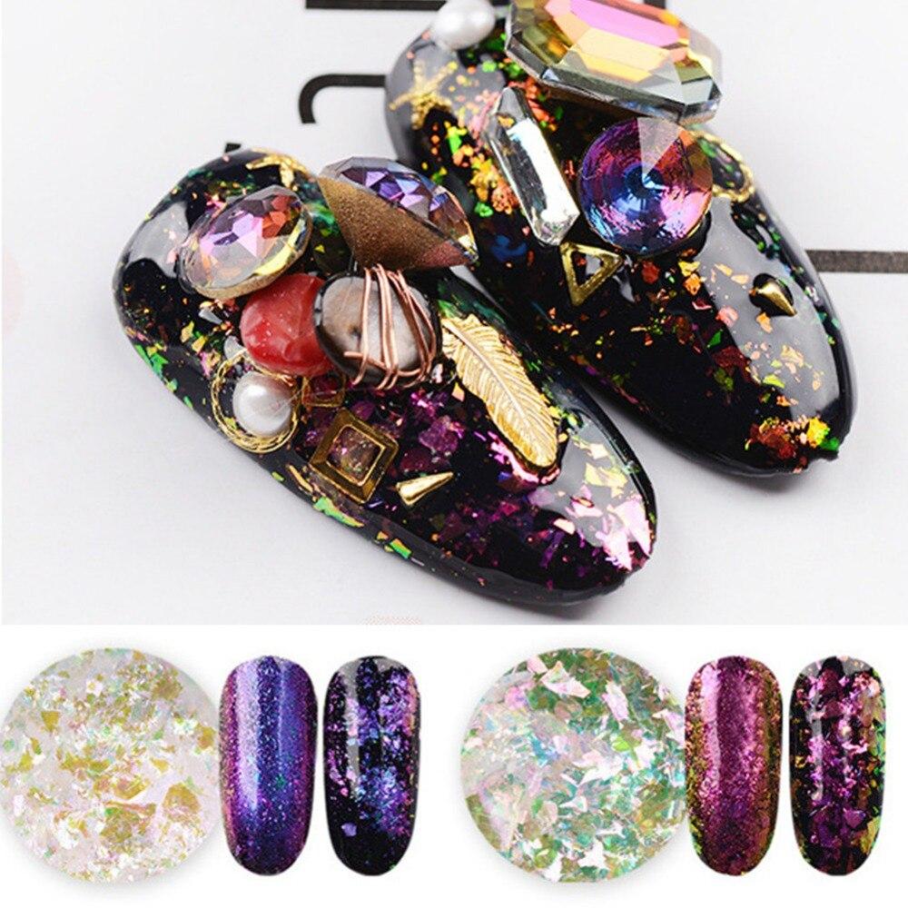 1 Box Chameleon Flakes Shimmer Galaxy Nail Glitter Dust: Aliexpress.com : Buy 1 Box Chameleon Nail Sequins Glitter
