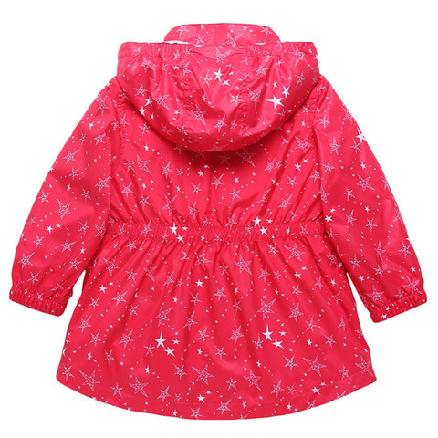New 2019 spring autumn children kids jackets outwear baby girls waterproof windproof jackets double-deck stars jackets Lahore