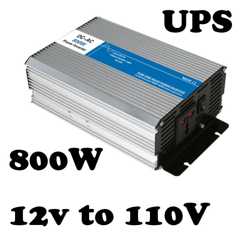 800w UPS charge solar inverter 12vdc to 110vac off-grid Pure Sine Wave voltage converter LED Display AG800-12-110-A p800 481 c pure sine wave 800w soiar iverter off grid ied dispiay iverter dc48v to 110vac with charge and ups