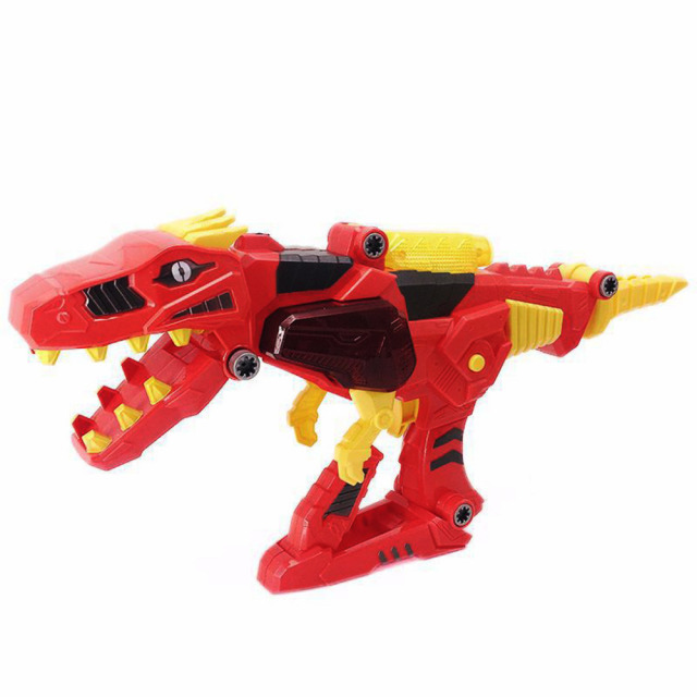 Dinosaurs can deform new products weird funny Transforming Dinosaur Toy Lights Sound 2 in 1 T-Rex Super Charge Morpher Toy