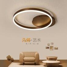 Brown rings Modern led ceiling Chandelier lights for livingroom Bedroom Study Room home Dec Acrylic Lamp Fixtures