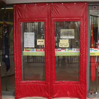 Customize cotton thermal insulation curtain door canvas windproof winter thickening cold proof leather curtain color