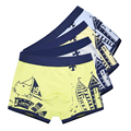 2 Pcs/lot Soft Organic Cotton Children's Teenager Boys Shorts Panties Baby Boy Stripes Underwear Colorful Kids Underwear 2-16y