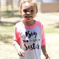 Baby Girls arrow Letter Print T-Shirt Toddler Long Sleeve tops Blouse cotton kids t shirt girls clothing Children Pullovers Tee
