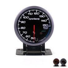Dynoracing, 60 мм, черный циферблат, Автомобильный датчик температуры воды, 50-150C, датчик температуры воды с белым и янтарным освещением, автомобильный измеритель