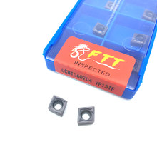 FTT CCMT060204 VP15TF outils de tournage internes de haute qualité, insert de tour en carbure, coupe-tour Tokarnyy, insertion de tournage CCMT 060204