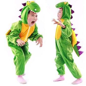 ליל כל הקדושים ילדי דינוזאור תלבושות ילד דרקון תלבושות המפלגה קיד של פנסי בעלי החיים cloting חמוד מטליות