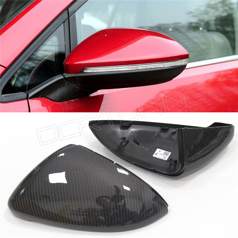 1:1 Replacement Style For Volkswagen VW Golf 7 MK7 R Gti & VW Golf 6 GTI R20 & VW Golf 5 Carbon Fiber Rear View Mirror Cover new 1 1 replacement carbon fiber rear view mirror cover car styling for vw volkswagen scirocco 2009 2015 without laneassit