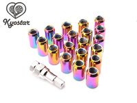 Universal 32mm Stainless Steel Extended Wheel Lug Nuts 20 Pieces Racing Car Steel Wheel Nuts M12 x 1.25 M12x1.5