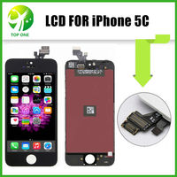 AAA Quality No Dead Pixel LCD For IPhone 5C Free Shipping Via DHL 12 Months Warranty