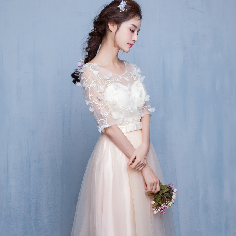 2017 new   Bridesmaid     Dresses   plus size stock cheap pink sexy a line tulle short elegant styles fashion sister simple JYX843DX