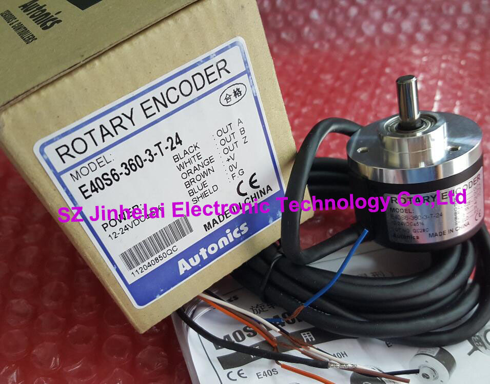 100% New and original AUTONICS E40S6-360-3-T-24 Incremental rotary encoder 12-24VDC цены