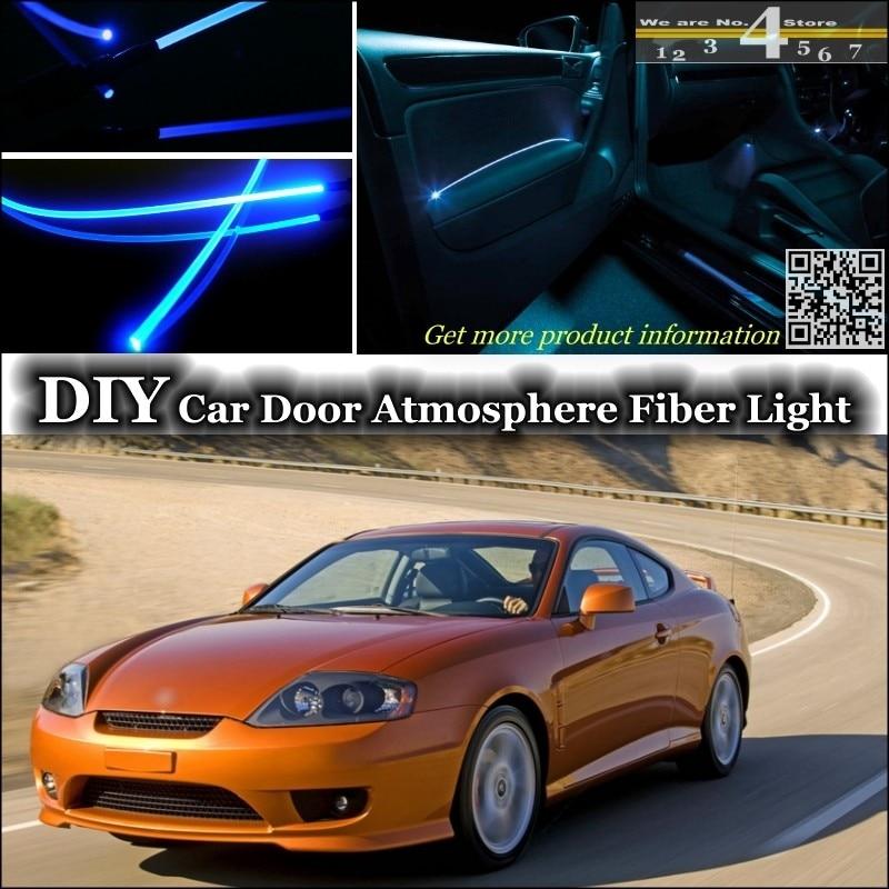 For Hyundai Coupe Tiburon Tuscani Interior Ambient Light Tuning Atmosphere Fiber Optic Band Lights Door Panel