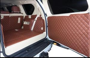 Image 3 - Volledige set kofferbak matten & back deur mat voor Toyota Land Cruiser Prado 150 7 zetels 2018 2010 cargo liner boot tapijten