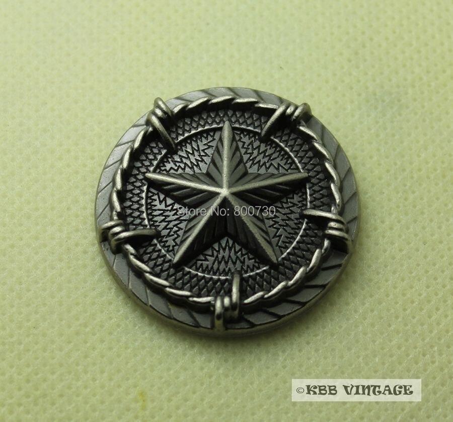 (KB206) Venta al por mayor 50pc 1-5 / 16 '' Concho de metal Western - Artes, artesanía y costura