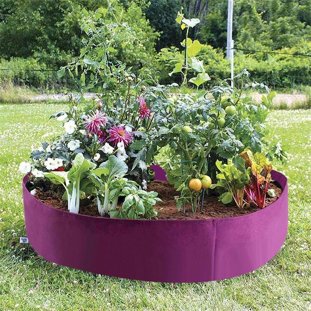 Purple Planting Bags Potato Strawberry Planter Bags Vegetable Grow Bags Container Fabric Plants Pots Holder Garden Supplies|Grow Bags|   - AliExpress