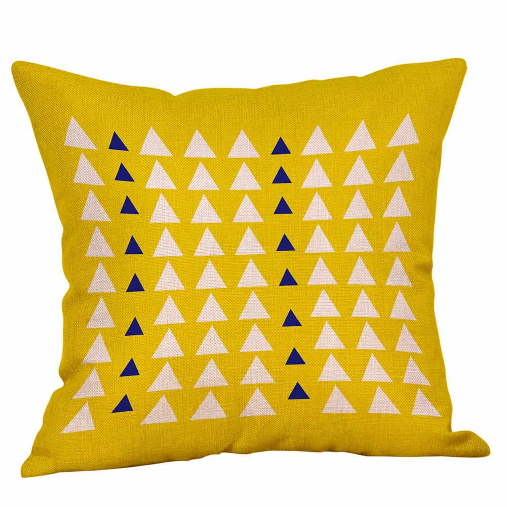 هندسية وسادة يغطي الأصفر والرمادي الماس موجة كيس وسادة ل أريكة كرسي منزلي الديكور ساحة سادات #10