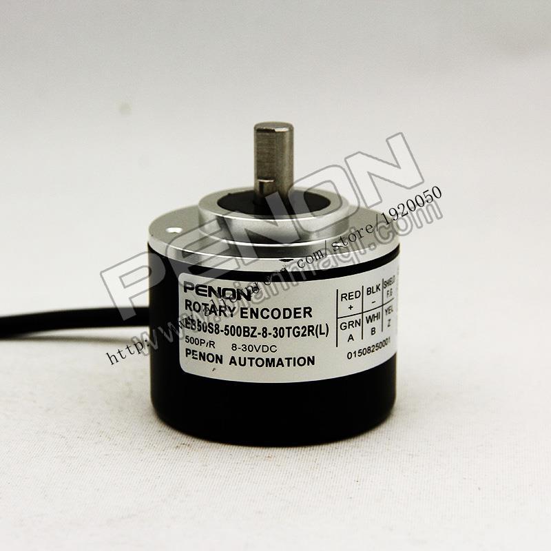 EB50S8-500BZ-8-30TG2R L) Rotary Optical Encoder  Solid Shaft 8mm500
